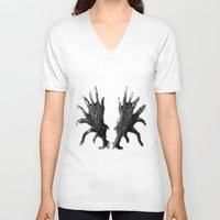 antlers V-neck T-shirts featuring Antlers by KesuOriesok