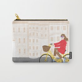 Making a habit of biking to work every day | By: Priscilla Li Carry-All Pouch