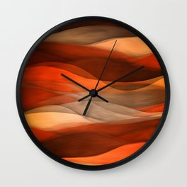"""Sea of sand and caramel waves"" Wall Clock"