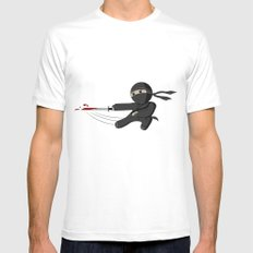 Ninja Swing White MEDIUM Mens Fitted Tee