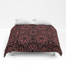 GOTHIC Red Unusual Rose Pattern Comforters