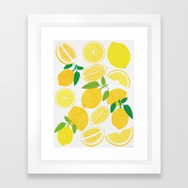 Lemon Harvest Framed Art Print