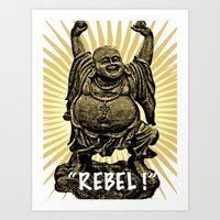 Rebel Buddha Art Print