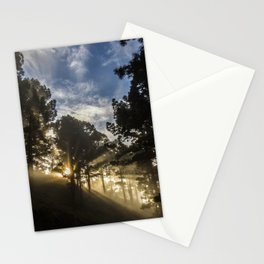Forest sun Stationery Cards