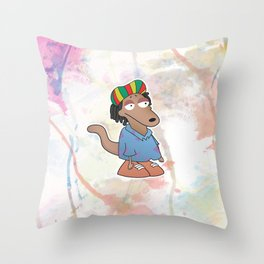 Rocko di rasta Throw Pillow
