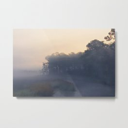 Foggy Coastal Morning Metal Print