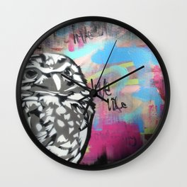 Owl Party Wall Clock