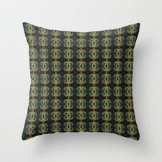 Peacock Bead Abstract Throw Pillow