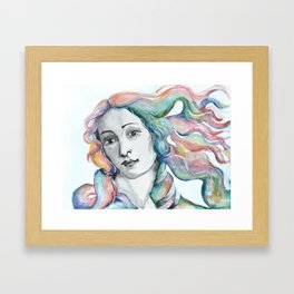 Venus Portrait Framed Art Print