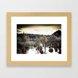 Dead Lakes Grunge Style Framed Art Print