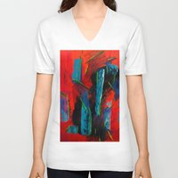 tame impala V-neck T-shirts featuring Tame Before the Storm by Katie Anderson Art