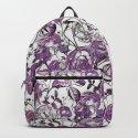 Purple Vintage Retro Flower Pattern by lebensart