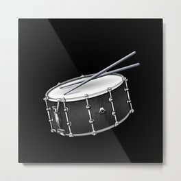 Snare Drum And Sticks Metal Print