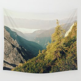 Morning mountain pine Wall Tapestry