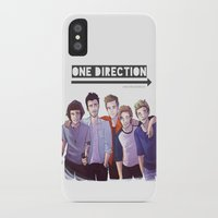 one direction iPhone & iPod Cases featuring One Direction by Nowhere Little Girl