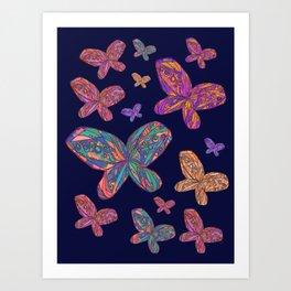 I Got Butterflies Art Print