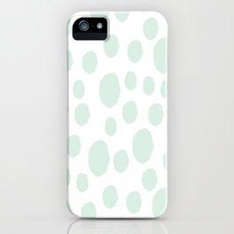 Mint Polka Art iPhone Case