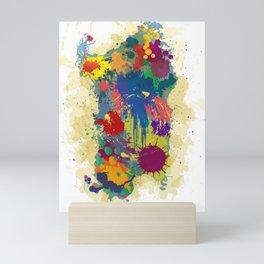 Sardinia, paint drops map Mini Art Print