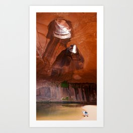 The Golden Cathedral Girl Art Print