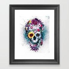 Skull Blue Framed Art Print