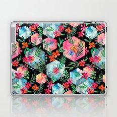 Whimsical Hexagon Garden on black Laptop & iPad Skin