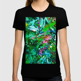 Leaves Buds Green Pink T-shirt