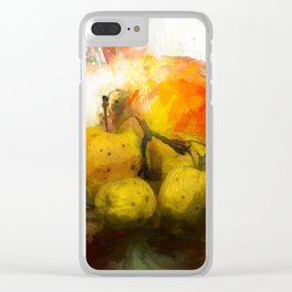 Still life with apple Clear iPhone Case