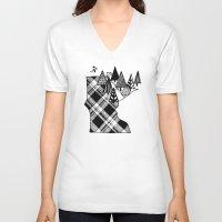 minnesota V-neck T-shirts featuring Minnesota Love by cmbringle