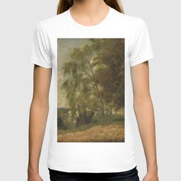 George Loring Brown - Old bridge over the old Lowell Canal at Medford, Massachusetts T-shirt