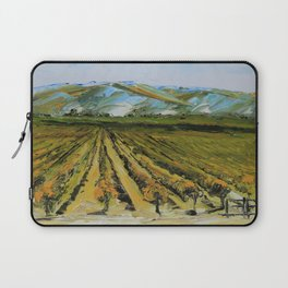 Colors of Napa Valley ll by Lisa Elley, Palette Knife Painting in oil. Laptop Sleeve