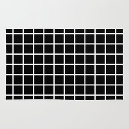 Back to School- Simple Grid Pattern- Black & White- Mix & Match with Simplicity of Life Rug