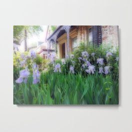 Purple Iris House Metal Print