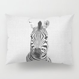 Zebra - Black & White Pillow Sham