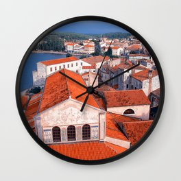 Roofs Wall Clock