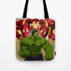 Hulk vs. Hulkbuster Tote Bag