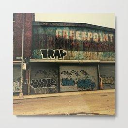 Greenpoint, Brooklyn - Industrial Street Art Metal Print