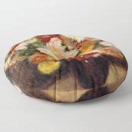 Bouquet of Chrysanthemums - Auguste Renoir Floor Pillow