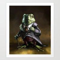 Lord Frog Art Print