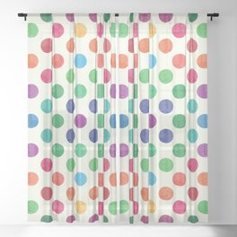 Lovely Dots Pattern III Sheer Curtain