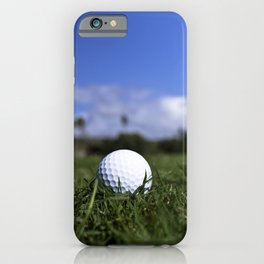 Golf ball in the rough iPhone Case