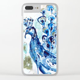 mr peacock Clear iPhone Case