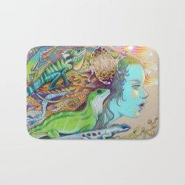 A Tangle Of Lizards, Lizard Art Bath Mat