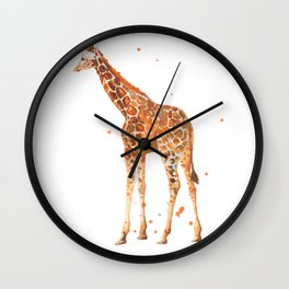 giraffe, african animals, wildlife, cute baby giraffe, nursery animals, safari Wall Clock