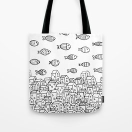 Underwater village Tote Bag