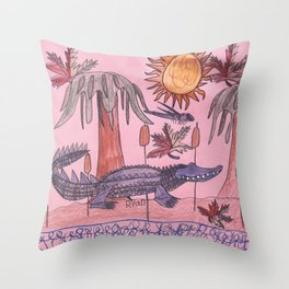 Swamp Hunt Throw Pillow