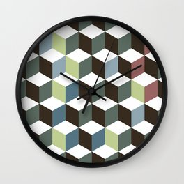 cubes pattern Wall Clock