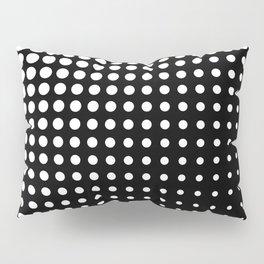 Modern techno shrinking polka dots black and white Pillow Sham