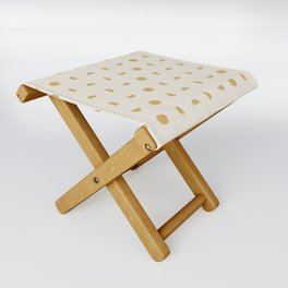 Desert Moon in Gold and Cream Folding Stool