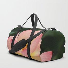 Peaceful Zen Garden Pink Lotus Floral Duffle Bag