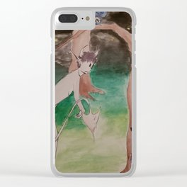 Naked night-terrors Clear iPhone Case